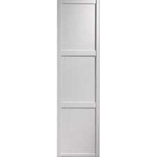 "Shaker Sliding Wardrobe Door 610mm (24"") White Panel Door"